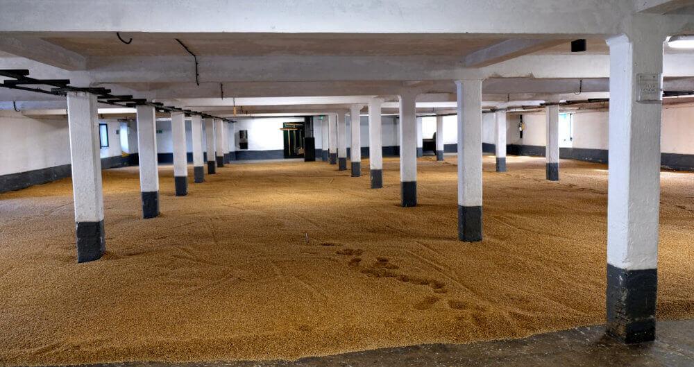 Malzboden Laphroaig Destillerie