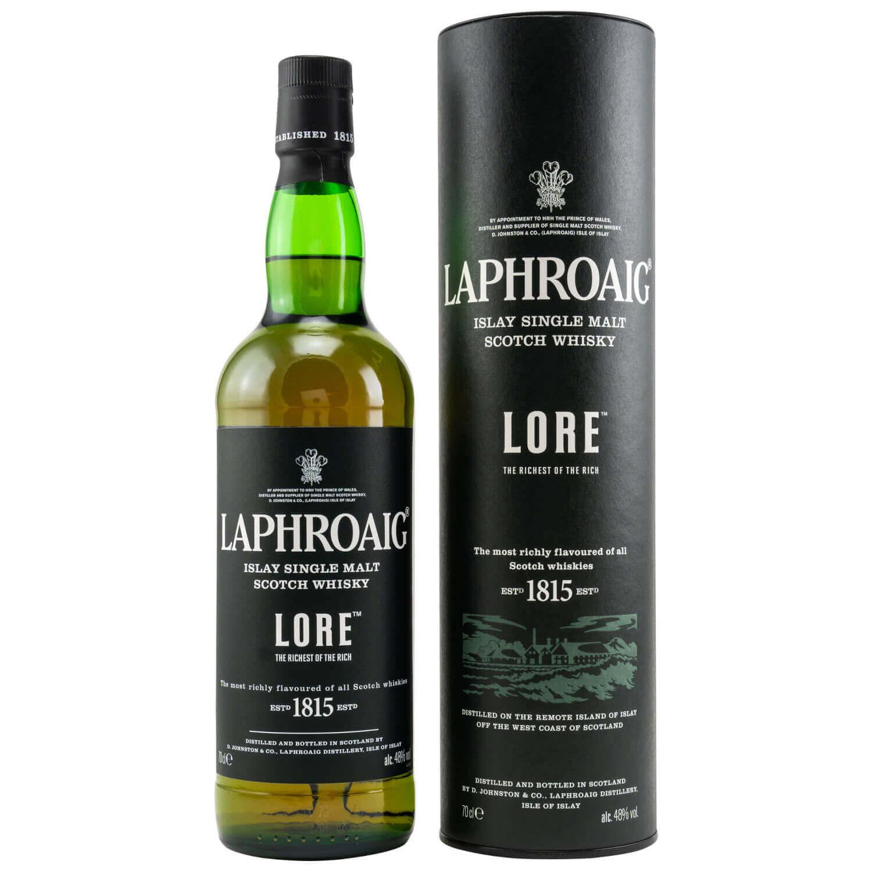 Laphroaig Lore Islay Whisky mit Tube