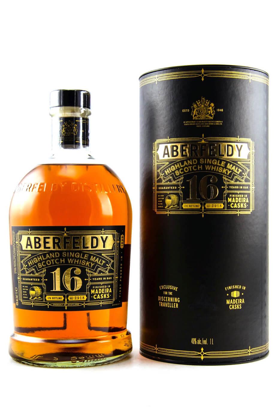 Flasche Aberfeldy 16 Jahre Highland Whisky
