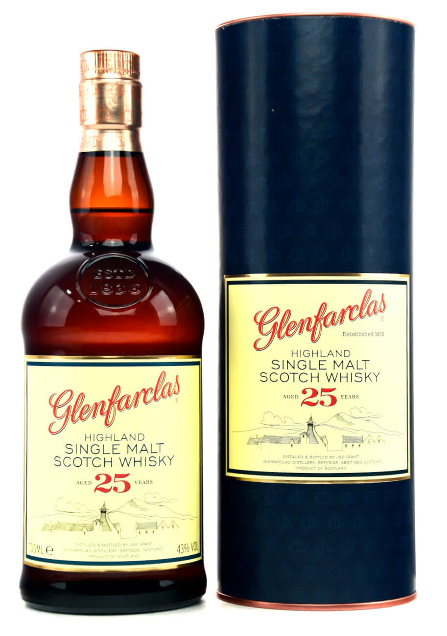 Glenfarclas Whisky 25 Jahre mit Dose