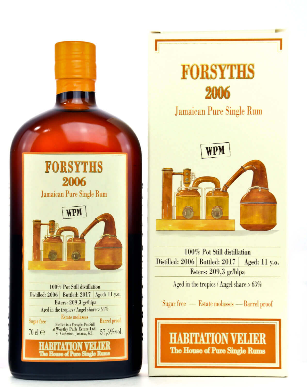Worthy Park Forsyths Rum mit Verpackung