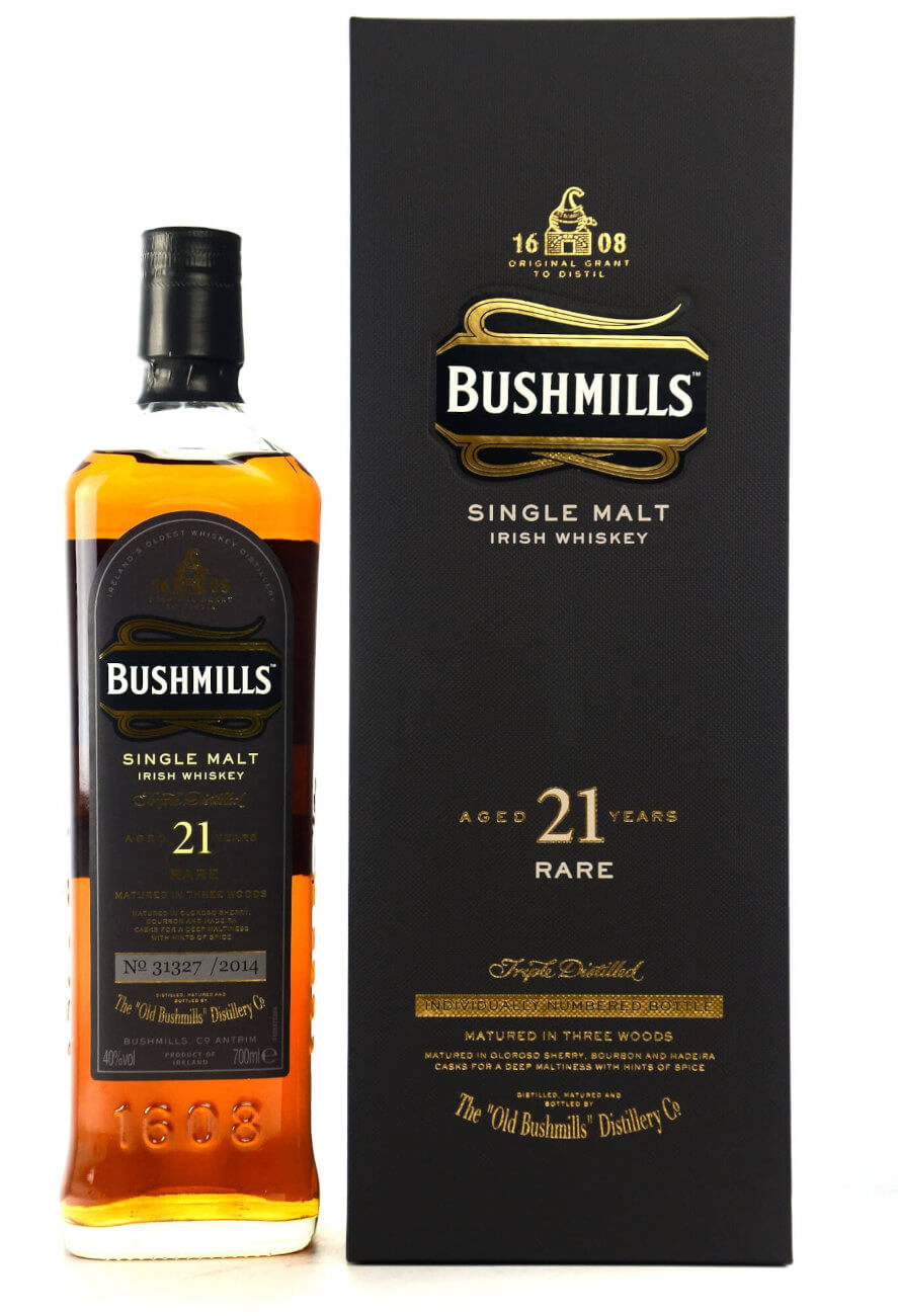 Bushmills 21 Jahre Single Malt Rare Irish Whiskey