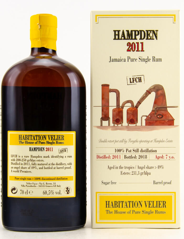 Hampden LFCH Rum Jamaica Pure Single Rum