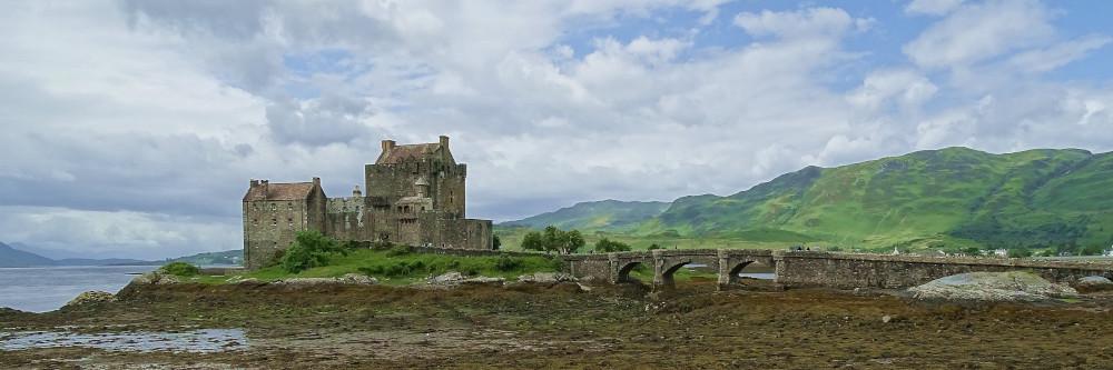 Eileen Donan Castle ein altes Schloss in Schottland