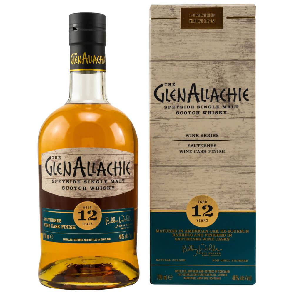 GlenAllachie 12 Sauternes Whisky mit Verpackung