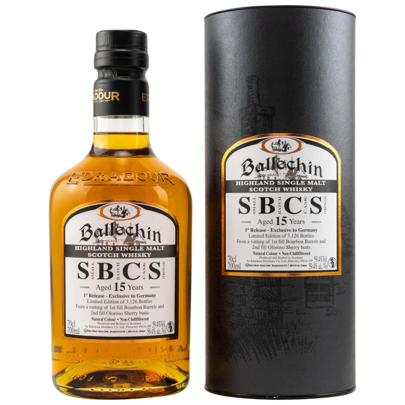 Ballechin 15 Jahre SBCS mit Tube