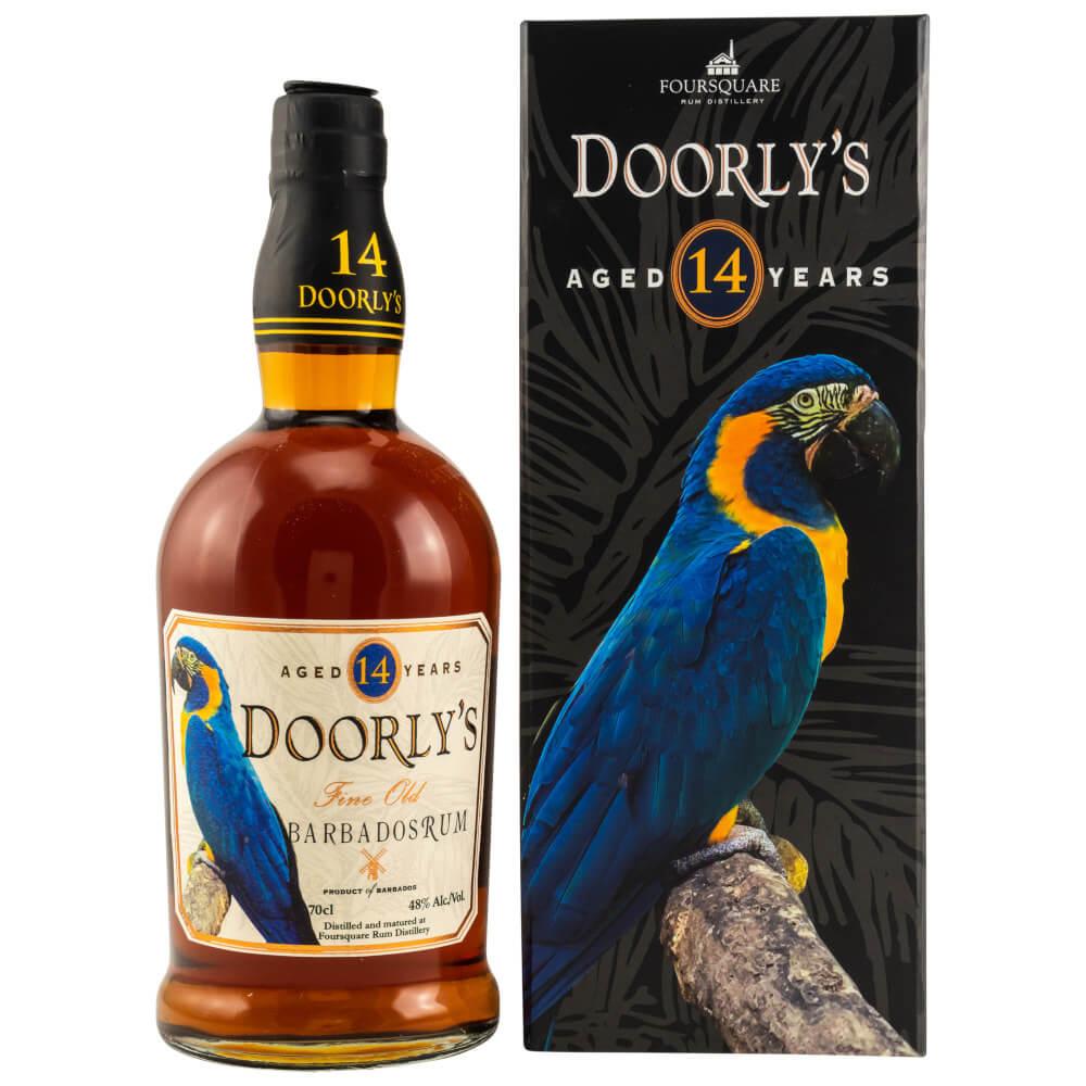 Doorly's 14 Jahre Rum mit Verpackung