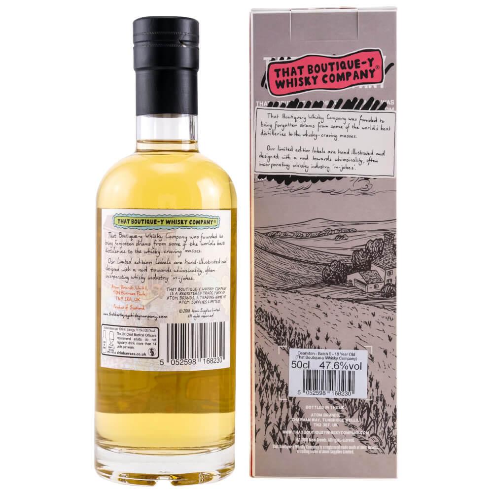 Flasche Deanston Whisky mit Karton