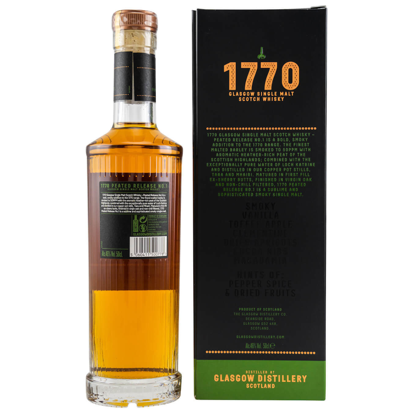 1770 Glasgow Distillery Whisky peated