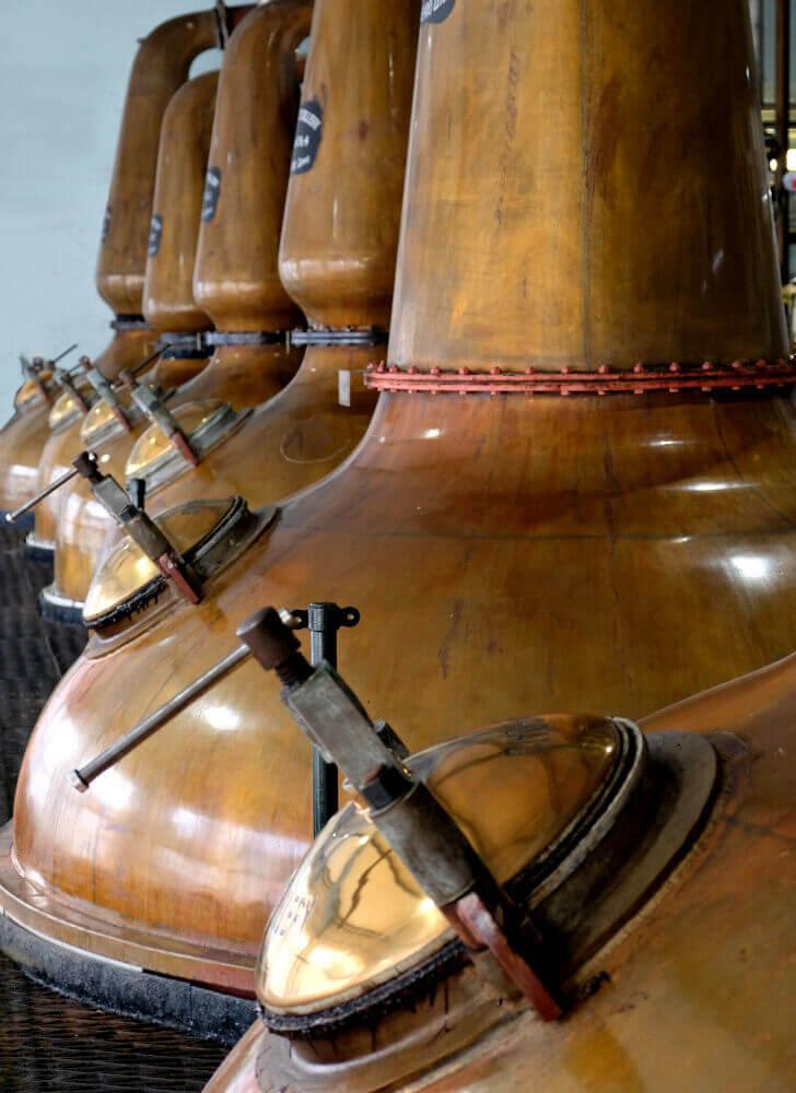 Brennblasen Laphroaig Destillerie