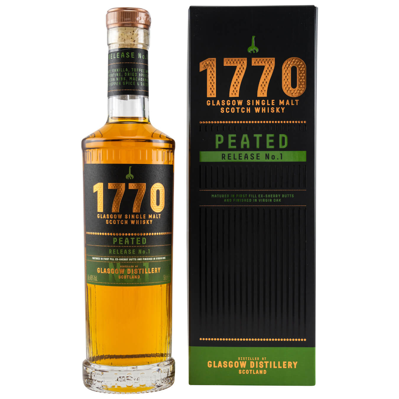 1770 Glasgow Distillery peated Whisky peated