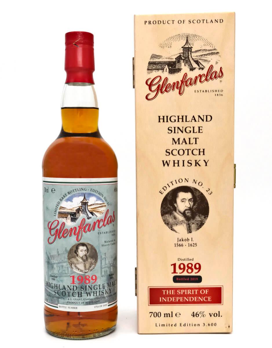 Glenfarclas Whisky 1989 mit Holzbox
