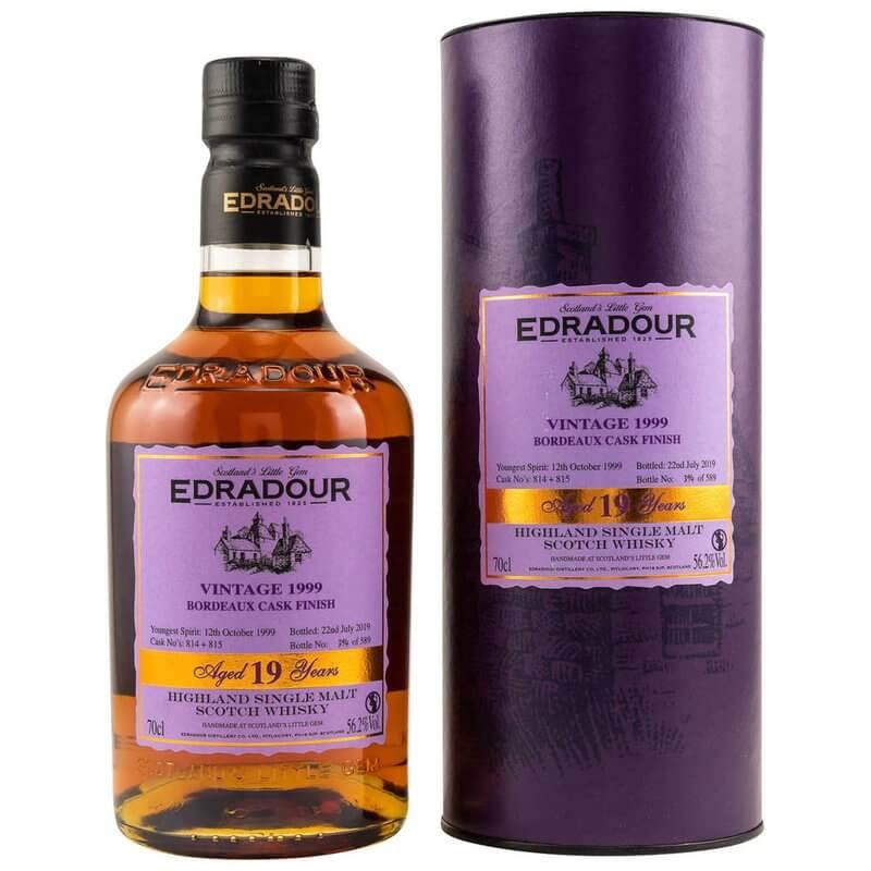 Edradour 1999/2019 19 Jahre Bordeaux Finish