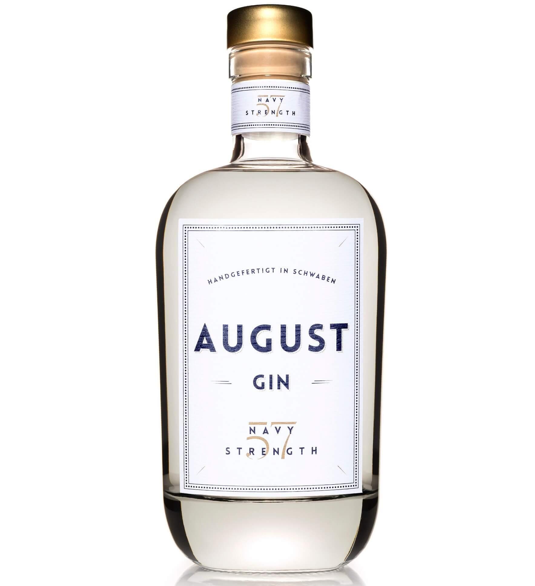 Flasche August Navy Strength Gin