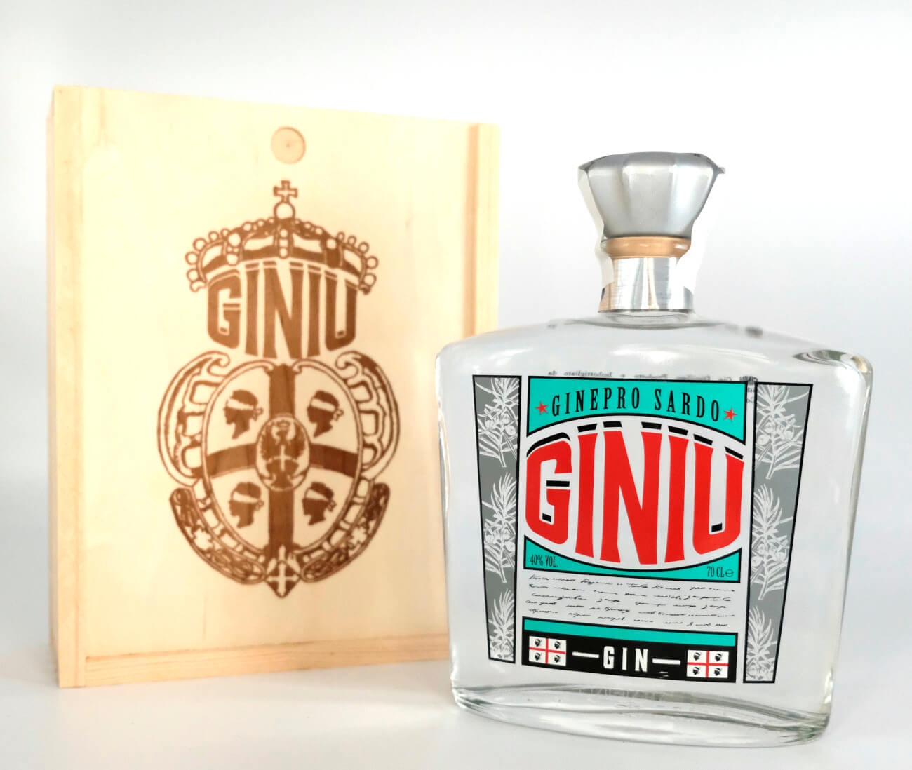 Giniu Gin mit Holzbox