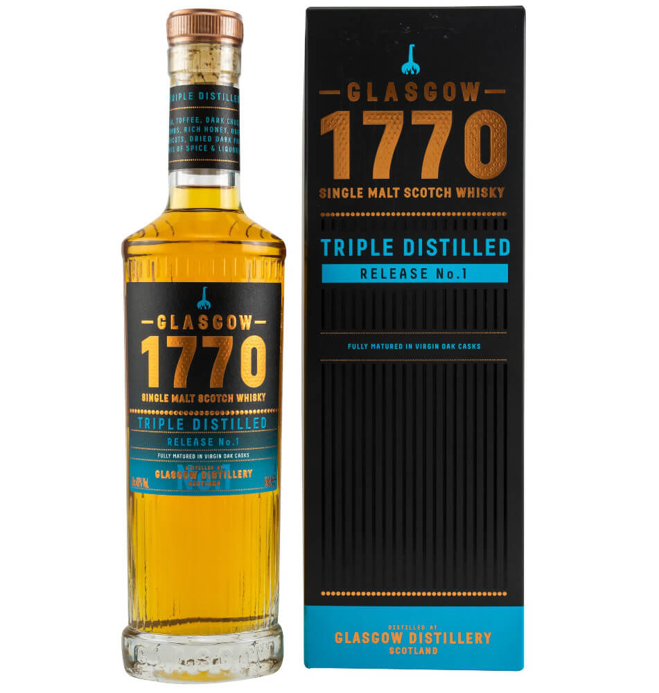 Flasche mit 1770 Triple Distilled Single Malt