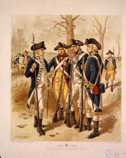 4 Soldaten im Unabhängigkeitskrieg  Amerika