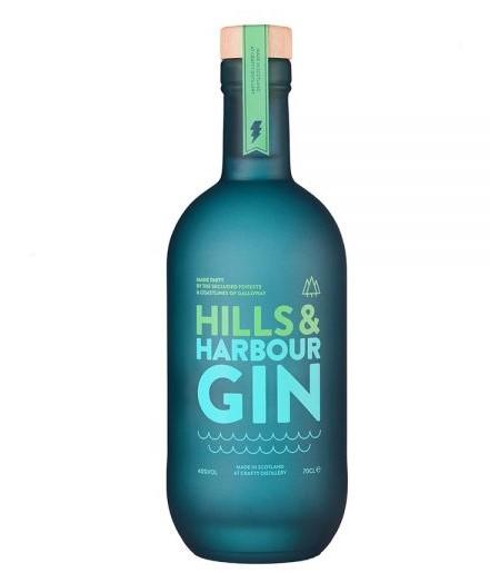 blaue Flasche Hills & Harbour Gin