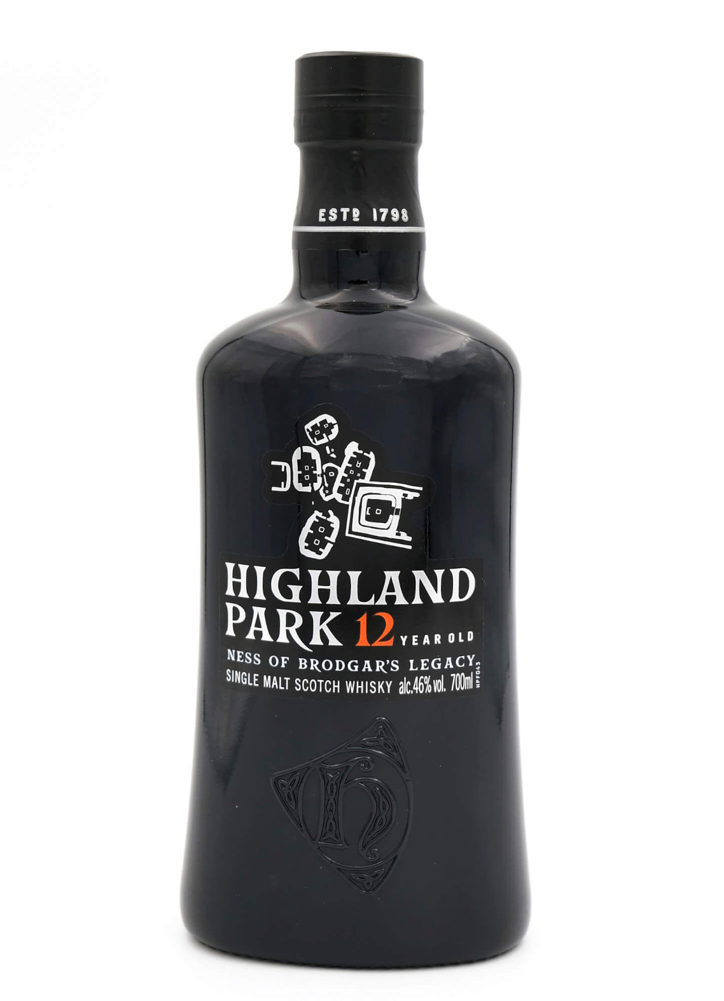 schwarze Flasche Highland Park Ness of Brodgars Legacy Islands Whisky