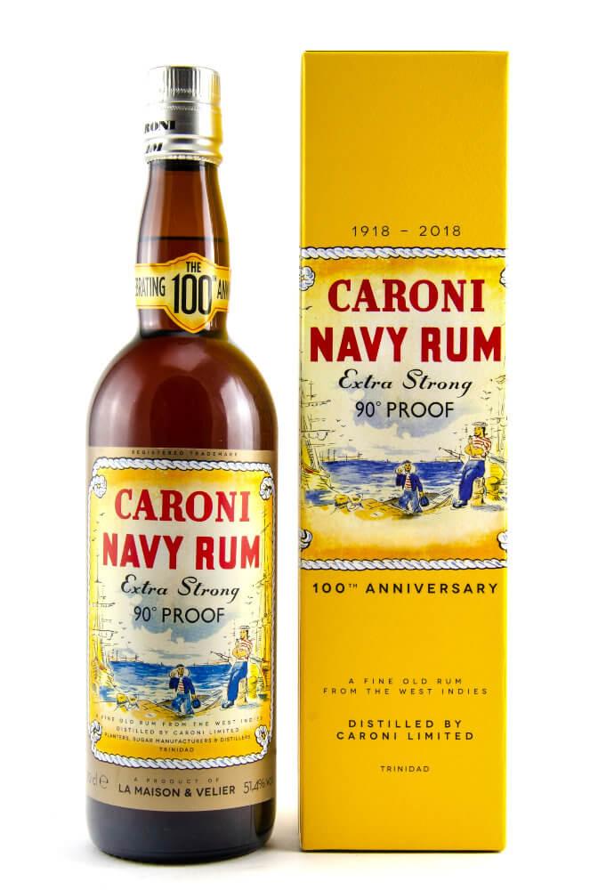 Caroni Rum 18 Jahre mit gelber Geschenkverpackung